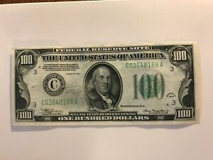 $100 1934 S/N HIGHER NUMBER THEN BOOK .. PHILADELPHIA   WOW