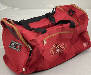 Vintage Starter NFL San Francisco 49ers Logo Red Duffel Gym Bag Duffle Rare