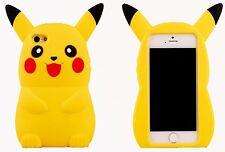 Face 3D Pokemon Go Pikachu Case Cover iPhone SE 4 4s 5 5s 5c 6 6s 7 + & iPod 5 6