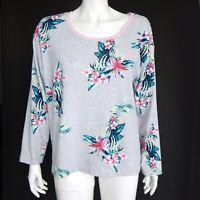 Tommy Bahama Cute Hawaiian Floral Pineapple Embroidery T-Shirt Top Medium - 769