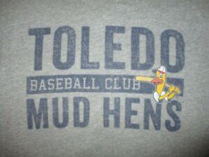 TOLEDO MUD HENS BASEBALL CLUB T SHIRT Minor League Muddy Mascot Rayon Adult LG