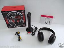 Sentry Wireless Headphone w/Transmitter Built-in Fm Radio 30m Range 3.5mm Hw701