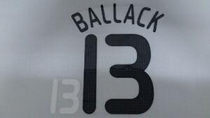 BALLACK #13 Germany Home EURO 2008 Name Set
