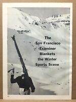 Vintage 1960 San Francisco Examiner Sports VIII Winter Olympics Skiing Print Ad