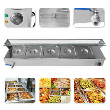 110V Commercial Food Warmer Buffet Steam Table Countertop 5-Pan Bain-Marie