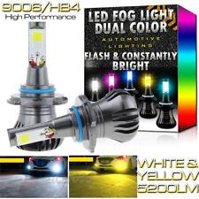 2x 9006 Dual Color Strobe Flash LED Fog Light Bulbs For RAM 1500 2500 3500 13-15