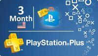 PSN 3 Month PlayStation PS Plus PS4 -Vita (6 X14)Days Accounts ( NO CODE )