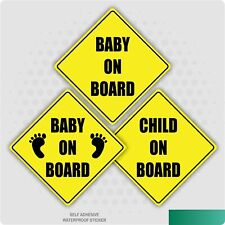 Baby On Board Child Safety Sticker Car Vehicle Signs Child On Board