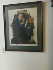 """Norman Rockwell The Doctor and the Doll - Beautifully Framed 35x29"""" Art Print"""
