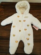 Juicy Couture - White& Gold Baby Snowsuit (NWT)
