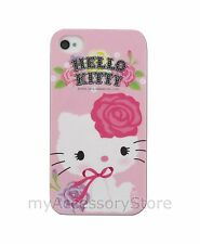 For iPhone 4 4s Hello Kitty TPU Silicone Rubber Flex Skin Phone Case Cover #4