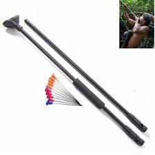 Black Blow Gun Junction Tube 10pcs Metal Needles Comfort Grip Fit Darts Hunting