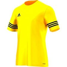 ADIDAS ENTRADA 14 FOOTBALL JERSEY YELLOW/BLUE T-SHIRT KIDS to ADULT RRP £12 BNWT