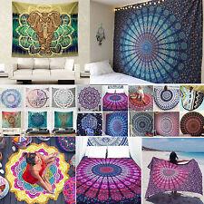 Indisch Mandala Tapisserie Hippie Wandbehang Boho Strandtuch Handtuch Decke Yoga