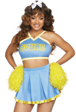 Leg Avenue blue adult cheerleader skirt costume set