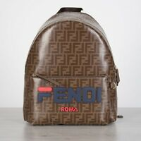 FENDI 2190$ FF Logo Motif Backpack With FENDI MANIA Embroidery