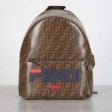 b6372edc07 FENDI 2190  FF Logo Motif Backpack With FENDI MANIA Embroidery