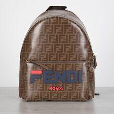 9416ac21c2dd Fendi FF Logo Motif Backpack With Fendi Mania Embroidery