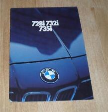 BMW 7 Series Brochure E23 728I 732I 735I 1980