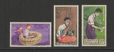 Royaume du Laos 3  timbres non oblitérés 1957 poste Aérienne musiciens /T2772