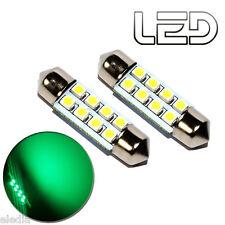 2 Ampoules navette c5w 36 mm 36mm 8 LED VERT Habitacle Plafonnier coffre boite
