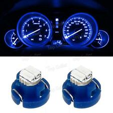 2x Ultra Blue T3 Neo Wedge SMD LED Light for Car Center Console AC Climate Bulbs