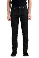 Versace Collection Men's Dark Gray Stretch Straight Leg Jeans