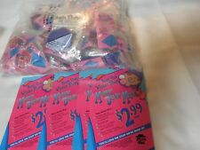 "Pizza Hut ""Munch Down Meal""Kids Meal Toys (Brain Thaw) Bag Lot w/Menu Cards 1995"