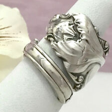 Sterling CROCUS Silver Spoon Ring RARE Silverware Jewelry Custom Sz,April Flower