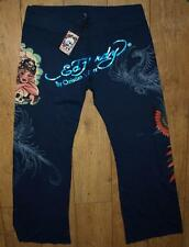 Women's Ed Hardy Sweat Lounge Pants trousers Casual 2XL Big And Tall Foil Print