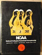 1971 NCAA Final Four Program-UCLA Bruins Villanova Western Kentucky Kansas