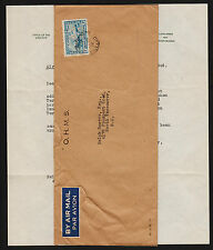 OPC 1946 Canada Ottawa to Vancouver OHMS Perfin Letter with Contents #OC8
