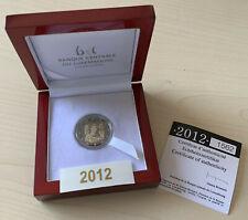 Luxemburg 2012, 2 € Prinzenhochzeit in PP Proof, 2.000 Stück, selten