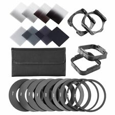 Neutral Density ND2 4 8 16 Square ND filter kit for Cokin P+Holder+Rings+Case