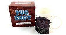Tasse Mops schwarz ca. 300 ml  Design Jack Evans Pug Shot Mug