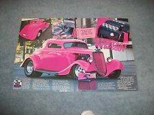 "1934 Ford 3-Window Coupe Pro Street Article 'Raspberry Rhapsody"" SOHC Power"
