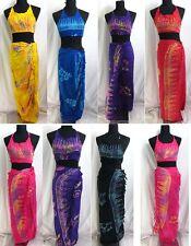 US SELLER-wholesale lot 10 halter top sarong set rayon handmade Bali Indonesia