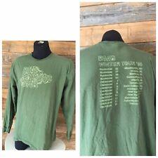 Dave Matthews Band Winter 2005 Tour Long Sleeve Shirt 2 sided Men's XL