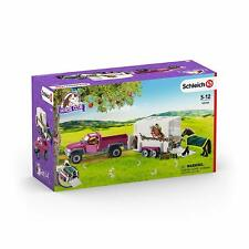Schleich Horse Club 42346 Pick-Up with Trailer and Many Accessories New Ovp