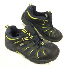 GUC Youth Merrell Chameleon Low Waterproof Trail shoes Blue leather & Mesh Sz 2