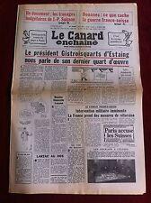 Le Canard Enchainé 14/05/1980; Douanes; se que cache la guerre Franco-Suisse