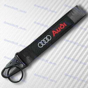 Universal Keychain Metal key Ring Hook Strap Lanyard Nylon for AUDI Brand New