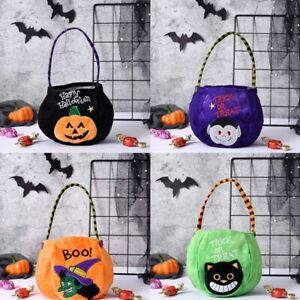 1Pc Halloween Party Kids Pumpkin Trick Or Treat Tote Bags Candy Bag Halloween-