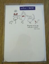"""Hallmark Happy New Year card """"every body and his dog wishes you a brilliant"""""""