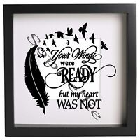 VINYL STICKER DECAL FOR DIY BOX FRAME JUST WHEN A MUM GRANNY