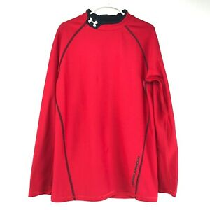 Under Armour Kids Youth XL Red Mock Neck Long Sleeve Cold Gear Top