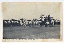 Vanderbilt and Four Stagecoach New York State Fair SYRACUSE NY Vintage Postcard