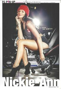 Fast Car Pin-Up Girl 'Nickie-Anne' - Sexy 1-Page Magazine Poster - Wolfrace Girl
