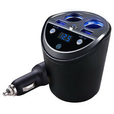 Bluetooth Wireless Car Fm Transmitter Mp3 Player Cup Holder Handsfree Car K R5Q8