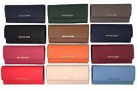 NWT Michael Kors Jet Set Travel Flat Leather Wallet (Select Color)